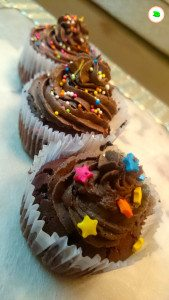 dark chocolate cupcake with chocolate fudge frosting final - tangylife