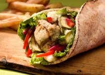 chicken shawarma wrap - tangylife