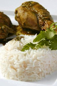 hariyali murg green chicken with rice - tangylife