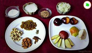 mixed fruit gujiya ingredients - tangylife