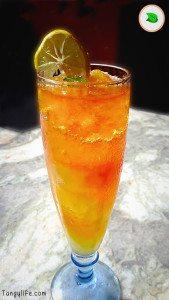 yellow summer cooler refreshing summer mocktail drink making tangylife
