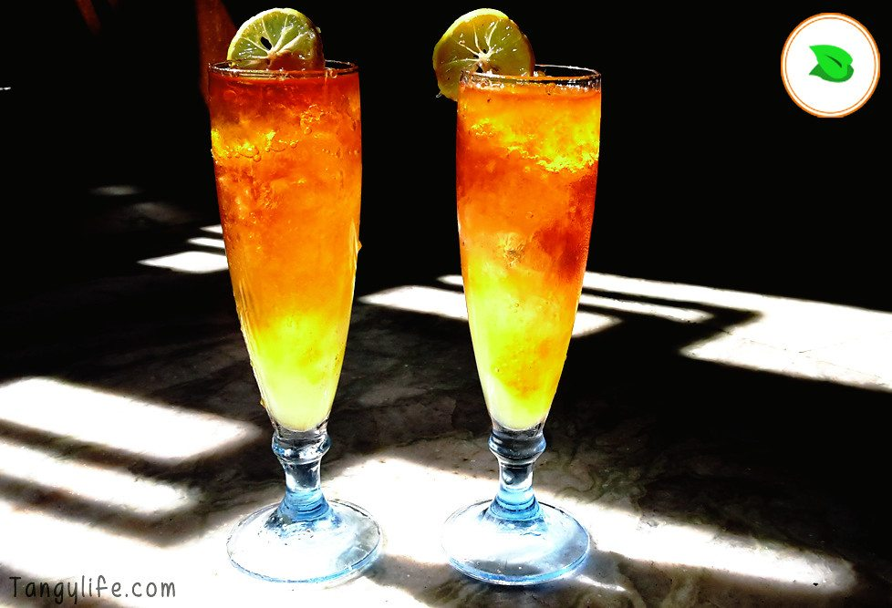 yellow summer cooler refreshing summer mocktail drink tangylife