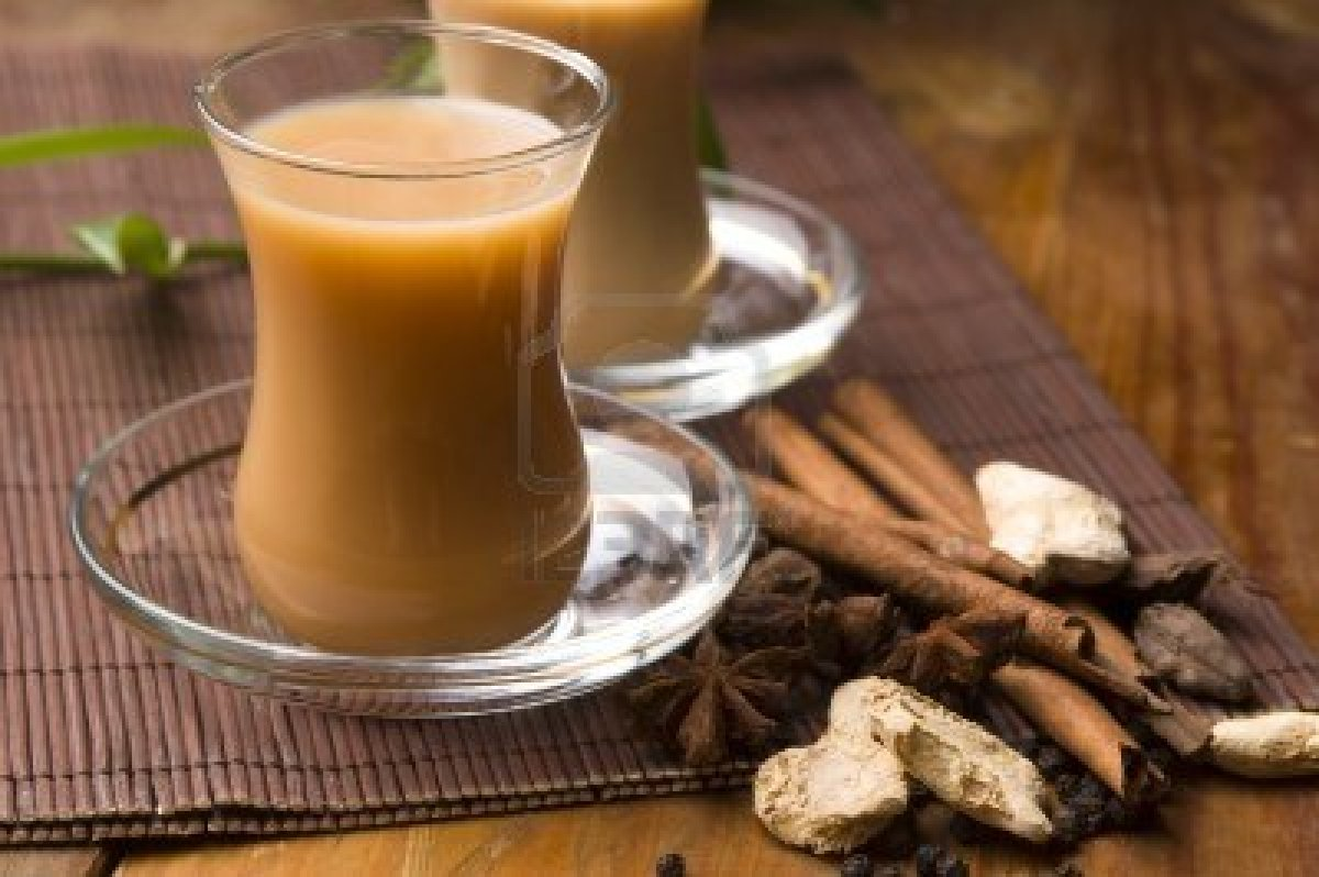 Indian Masala tea with spices and herbs
