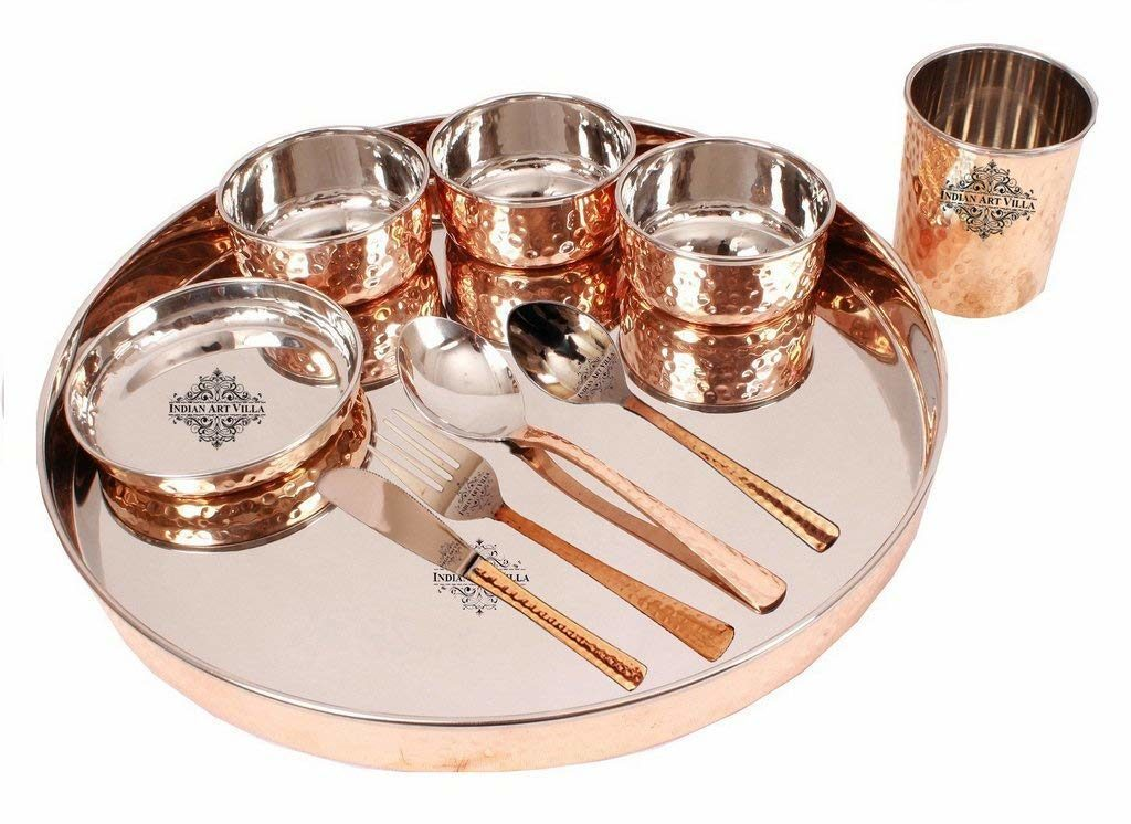 Steel copper thali dinnerware review tangylife