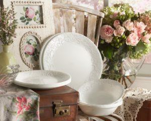 Corelle- embossed -white- dinnerware -set- review