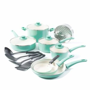 Greenlife ceremic non stcik cookware set review
