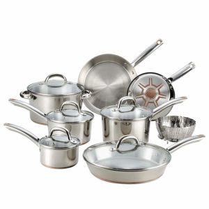T-Fal Stainless steel copper cookware set review