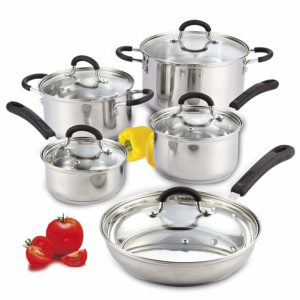 cook n home satinless steel cookware set review