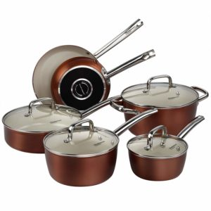 cooksmark ceramic cookware set copper review