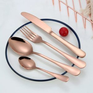 rose gold plated stainless steel silverware set review