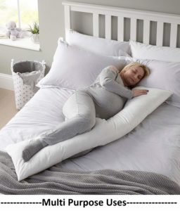 Ultra Soft Long Side Sleeper Pillow - pregnancy pillow in India
