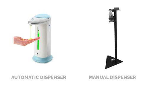 automatic vs manual sanitizer dispenser tangylife