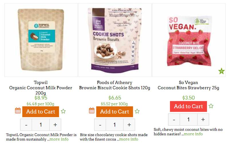 Specialty vegan and gluten free food doorstep organics review tangylife